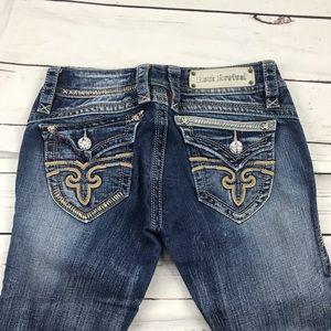 Women's Rock Revival Size 26 Low Rise Capri Jeans